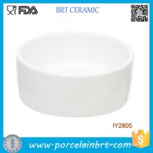 Plato de cerámica blanco personalizado para tazón de fuente de animales pequeños