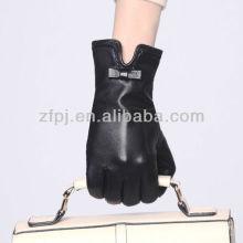 Dame Kleid Leder sexy Handschuhe