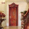 Foshan conçoit des modèles de portes en bois sculpté antiques en Inde