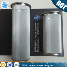 100 150 Micron stainless steel cylindrical wire mesh coffee filter strainer