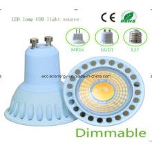 Dimmable Ce y Rhos GU10 5W COB LED Bombilla