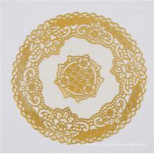 20см круглый золото ПВХ кружевная салфетка популярной пользы дома/кофе