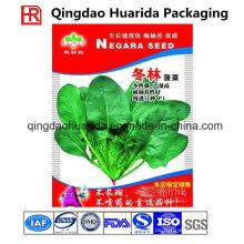 Hersteller der Samen-Plastiktasche / kundenspezifische Hitze versiegelte Plastikverpackungs-Tasche