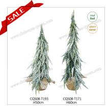 H50-60cm Mini Árbol de Navidad Artificial hecho a mano PE Ornamento De Navidad