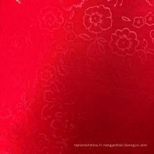 Tissu gaufré 100% polyester teint par teinture