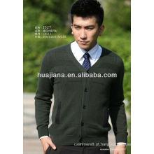 Casaco de camisola 100% cashmere masculino