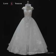 WX16125 cap sleeves elegant wedding dress custom made affordable milly bridal wedding dress