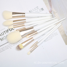 9-delige witte make-upborstel Set Costomize-logo