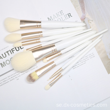 9st vit makeupborste Set Costomize Logo