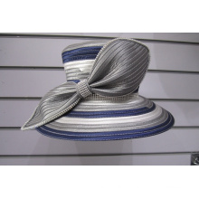 Многоцветные атласные ленты женские формальные церковные шляпы