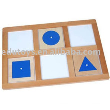 Montessori Geometric Demonstration Tray