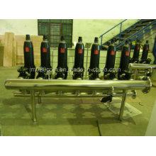 Filtre à disque d'eau de pipeline en acier inoxydable pour la filtration d'irrigation