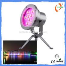 Высокое качество DMX 9W IP68 водонепроницаемый подводный свет, ss 316 подводные светодиодные фонари