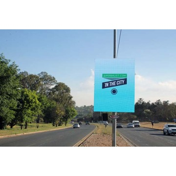 Vollfarbige IP65 Smart Pole Billboard LED-Anzeige