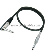DML Series Essential Instrument Guitar Cable Jack 90° to Jack Black PVC Jacket