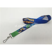 Os dois lados Logo Sports Meeting Lanyards Silk Screen