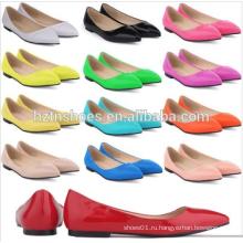 Новый дизайн моды дамы женщин балерина обувь 2015 Candy цвет леди плоские туфли