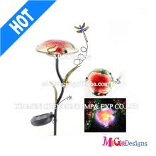 Lumière solaire de Decoartion de jardin de champignon en métal et en verre