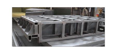 Waterjet table frame