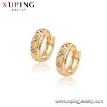 96906 Xuping Mode einfaches Design vergoldet Hoop Frauen Ohrring