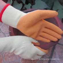 Latex beschichtete Handschutz-Sicherheits-Rigger-Baumwoll-Arbeitshandschuhe