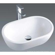 China de lujo hizo el fregadero de cerámica del lavabo del baño (7100)