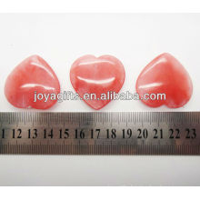 Semi precious watermelon heart shape 35MM