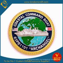 Custom Us Coast Guarder Gold-Andenkenmünze (KD-305)