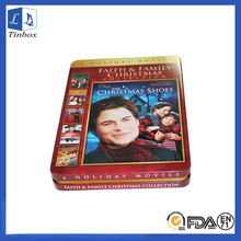 Rectangular Storage Tin Box Cases For DVDs