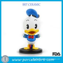 Children Toys Cartoon Duck Table Decor Resin