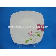 Cerâmica prato quadrado de louça