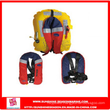High Quality Stainless Steel Buckle and D-Ring Inflatable Safety Life Jacket (LJ-04)
