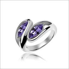 VAGULA пара листьев Rhinestone моды обручальное кольцо