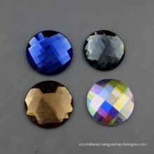 30mm Round Glass Stone Flat Back Jewelry Stones