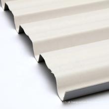 Folha de telhado de plástico ondulado resistente a UV de material de construção