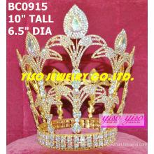 Große runde Mode Strass Krone