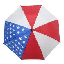 21 Inch 8K Compact Travel Automatic Open Pongee Fabric 2 Fold Rain Umbrella