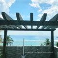 Outdoor Pergola Gazebo Louver Roof WPC Composite Post Garden Arbours