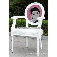 Unique design lady pattern backrest armchair XY0137