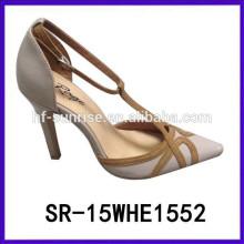 SR-15WHE1522 el alto talón atractivo los 15cm calza el alto talón del lápiz calza el tamaño 34 de los zapatos del alto talón del verano