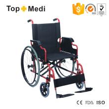 Topmedi Medical Equipment Desk Armrest Manual Steel Wheelchair