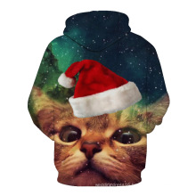 One Piece Custom Made Christmas 3D Printing Men Sweater Fleece Hoody