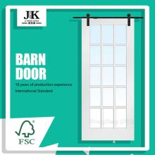JHK Panel Design Door Porte de grange blanche en bois interne
