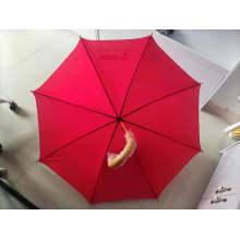 Customized Wooden Shaft Hook Handle Material Straight Umbrella