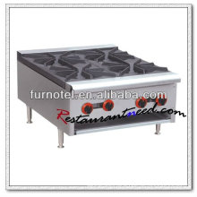 K121 Stainless Steel 4 Burners Clay Pot Commercial Gas Cooker