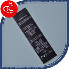 Étiquette faite sur commande de soin de lavage d'impression pour l'étiquette de vêtement