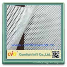Tela de malha 100% poli respirável do ar 3d para a tampa de assento da motocicleta