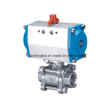 Stainless Steel Pneumatic Control Actuator Ball Valve