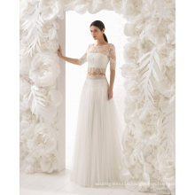 Lace Tulle A Line Bridal Evening Wedding Dress (RS023)