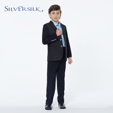 2 Pieces Breasted Black TR Kids Suit Sets